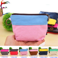 Could mix color Stripes Canvas Wholesale 20pcs Lot Color joint key coin canvas wallets small money bag case holder card phone storage travel bag pouch pocket