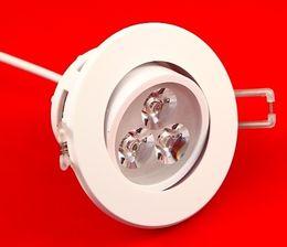 10PCS lot Free Shipping Dimmable 3x3W LED ceiling light down light high power Epistar Warm Cool White LED spotlight lamp home lighting