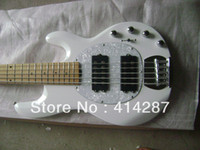 bass ball - Music Man musicman Erime Sting Ray Ball bass string white color with active pickup