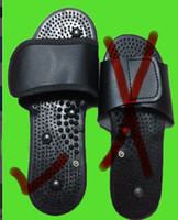 Wholesale New Large Size Foot Relax Massager slipper with cable for Tens Acupuncture digital therapy machine cm black shoes