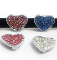 Wholesale Factory Price MM Shining Heart Slide Charm DIY accessory A143 Fit mm Dog Collar amp DIY Wristband amp Belt Fast to USA