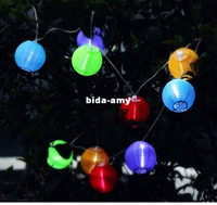 Wholesale Outdoor Solar Powered LED Mini Colorful Lantern String Lighting Garden Christmas Decoration Lamp