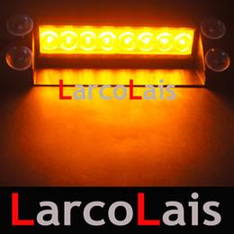 LarcoLais 8 LED High Power Strobe Lights Fireman Flashing Emergency Warning Fire Car Truck Motor Light