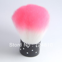 Wholesale Pink White Nail Brush For Acrylic UV Gel Nail Art Dust Cleaner NEW Pro Nail Art Powder Dust Flocking Remover Brush Cheek Make Up