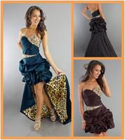 Wholesale Detachable Skirt Prom Dress Beaded Strapless Sweetheart Bubble Taffeta Leopard Print Prom Dresses Party Dresses Long Homecoming Dresses
