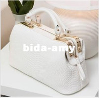 Wholesale 2013 brand vintage OL noble crocodile pattern handbag doctor bag women s designer handbag totes