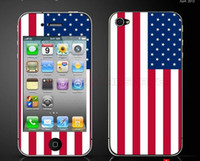 Wholesale US Flag Color Screen Protector Full Body Sticker For Iphone4 s Mobile Protective Film