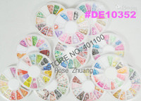 Black Round  Wholesale - Freeshipping-12 Style Flower Fruit Polymer Clay Slice For 3D Nail Art Decoration s SKU:D019