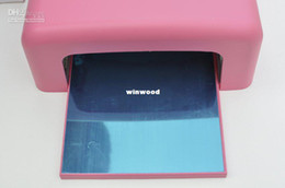 Wholesale V UV Lamp Nail Dryer W Pink Nail Gel Curing