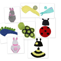 Unisex Spring / Autumn Blending Kids Cosplay Baby Boy Girl Crochet Aminal Beanie Hats Costume Set For Photography Props 0-6 Months Style Choose DEG