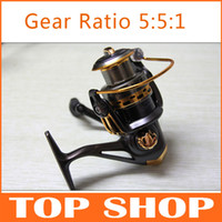 Wholesale High grade Metal Head Shaft Spinning Wheel Five Size Gear Ratio