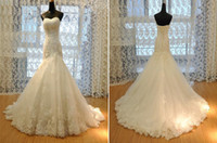 Trumpet/Mermaid Real Photos Sweetheart 2013 Elegant White Trumpet Sweetheart Court Train Sequins Beads Crystals Appliques Tulle Zuhair Murad Wedding Dress Z402