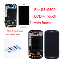 For Samsung LCD Screen Panels original S3 i9300 LCD with frame assembly Display Replacement with Digitizer Touch Screen For Samsung Galaxy S3 Free Shipping & tools