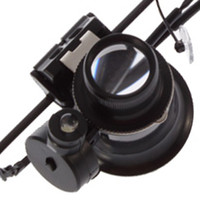Wholesale Multiple x Glasses Type Watch Repair Magnifier Loupe Lens With LED Light tools one glasses