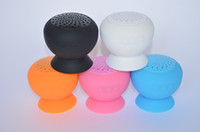 Wholesale Stylish Mini Mushroom Bluetooth Speaker Hands free Waterproof Silicone Suction