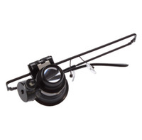 Wholesale Multiple x Glasses Type Watch Repair Magnifier Loupe Lens With LED Light tools black one glasses