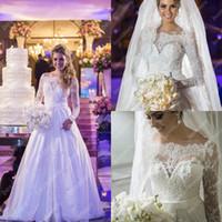 2013 wedding dresses off the shoulder high neck Long sleeves...