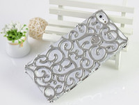 Wholesale New Arrival Fashion luxury cell phone case For iPhone G S bling Plating Artistic Palace Flower Case cover
