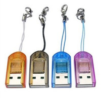 Wholesale LJ Best Price TF Card reader USB Micro SD T Flash Memory Card Reader Colorfrul No BOX