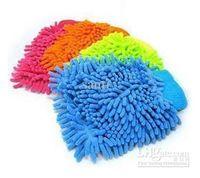 Wholesale Fashion Hot Snow Neil fiber double coral type high density Car wash mitt gloves towel Mop