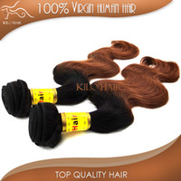 Wholesale Ombre Virgin Hair Weft Indian inch to inch color B grade AAAAA virgin remy india hair Mix length packs body wave hair