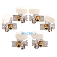 Wholesale Alice AOD AP Tuning Pegs Tuner Single Nickel Plated Machine Head Steel String Guitar Tuning Keys Guitar Accessories Piece Set New