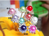 Individually wrapped Diamond Hairpin , hairpin Korean pop beautiful fashion hair accessories lovely wild diamond hairpin multicolor pearl plate made of U -line pin