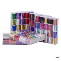 Wholesale 7 Colors Rolls Machine D Rayon Embroidery Sewing Floss Threads Strings Cords Wire M Roll ZBR