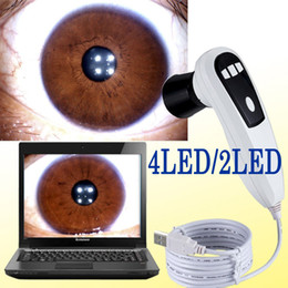 Wholesale 2014 CE NEW MP LED LED USB Eye digital Iriscope Iridology camera Iris Analyser Iridoscope Pro Software