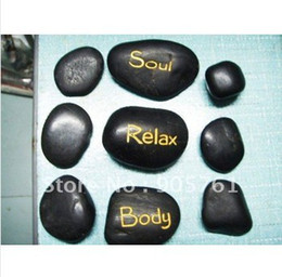 Wholesale pc set SPA massage stones body massage out fatigue stone basalt stone