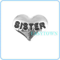 Wholesale Sister word Floating Charm fits Origami Owl Lockets