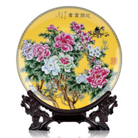 home furniture decoration - Jingdezhen ceramic faceplate stylish home furniture decoration living room decorative plate ornaments crafts