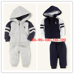 Wholesale 2013 Newest Spring autumn two Piece Kids Clothes Set Clothing polo Suit Baby Boys Clothes Hoody jacket pants Tracksuits SIZE