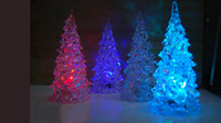 Wholesale LED Christmas Trees Decoration Light Crystal Color Color Changing Table Lamp