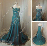 Real Photos Tulle Sleeveless 2013 Prom Dresses Real Image Cheap Sweetheart Peacock dresses Tulle Dark Green Prom Dresses md42660m