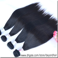 Straight Russian Hair machine 3 bundles lot 6A+ Brazilian human hair extensions natural straight hair weft 8''to 34''