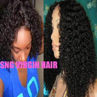 Wholesale Stocking and Free Ship quot B Kinky Curl Curly Indian Human Hair Glueless Lace Front Wig quot quot In Stock