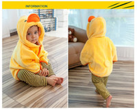Wholesale Newest style Baby Animal Rubber Duck shape Coat Smocked Dress Cloak Baby Cape Smocked Clothing Infants Coat Windcheater Children s Poncho