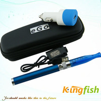 Wholesale Kingfish Electronic Cigarette E Cigarette E Cig ego cigarette with Ego Twist Battery ego Battery GS H2 atomizer usb Car Charger Med case