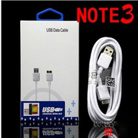 Wholesale Micro USB Charger Data Line Sync Cable Adapter Cables with retail box For Samsung Galaxy S3 S4 S5 Note N9000 N9100