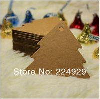 Wholesale Christmas tree shape Price Tag amp Labels DIY brown paper kraft label paper TAG