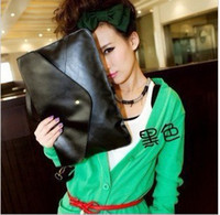 Wholesale The new female pure color single shoulder bag hand bag