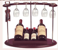 Wholesale Home decoration theroom fashion wood wine rack handsome mini major bar bottle