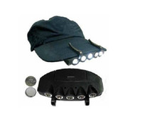 Wholesale LED hat light Hiking Camping Clip On Under Brim Cap Hat Flashlight light Lamp