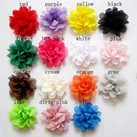 Wholesale Christmas DIY Flowers colors pick Mini Chiffon Flowers quot Charlotte Tulle Puff Flower without clips Hair Accessories