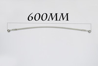 Wholesale 600MM MOTORCYCLE MADE STAINLESS STEEL BRAKE LINES HOSES MM caliber Clutch modification Universal