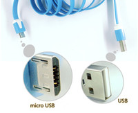 For Samsung   2000pcs 1M Noodle Micro USB Sync Data Charge Cable For Samsung Galaxy S4 S3 I9300 Galaxy Note 2 N7100 DHL FEDEX Free shipping