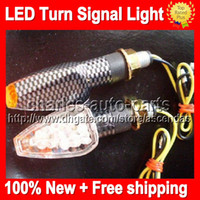 Wholesale 100PCS Universal carbon black cLED Motorcycle Turn Signal Light Indicator Bulbs LED Turn Signal Lights moto Turn Signal