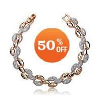 Wholesale christmas sale k Gold Plated rhinestone Crystal Bracelet fashion crystal jewelry