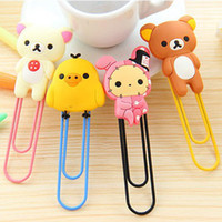 Clips paper clips - 5 cm Bear Chicken Rabbit Cartoon Animals Paperclips Bookmarkers Lovely Book Clips Children Stationery SH164